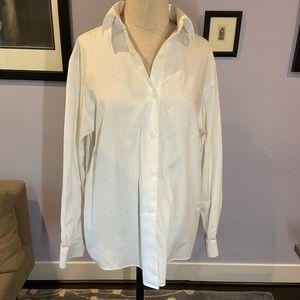 Talbots size 10 button down white shirt.